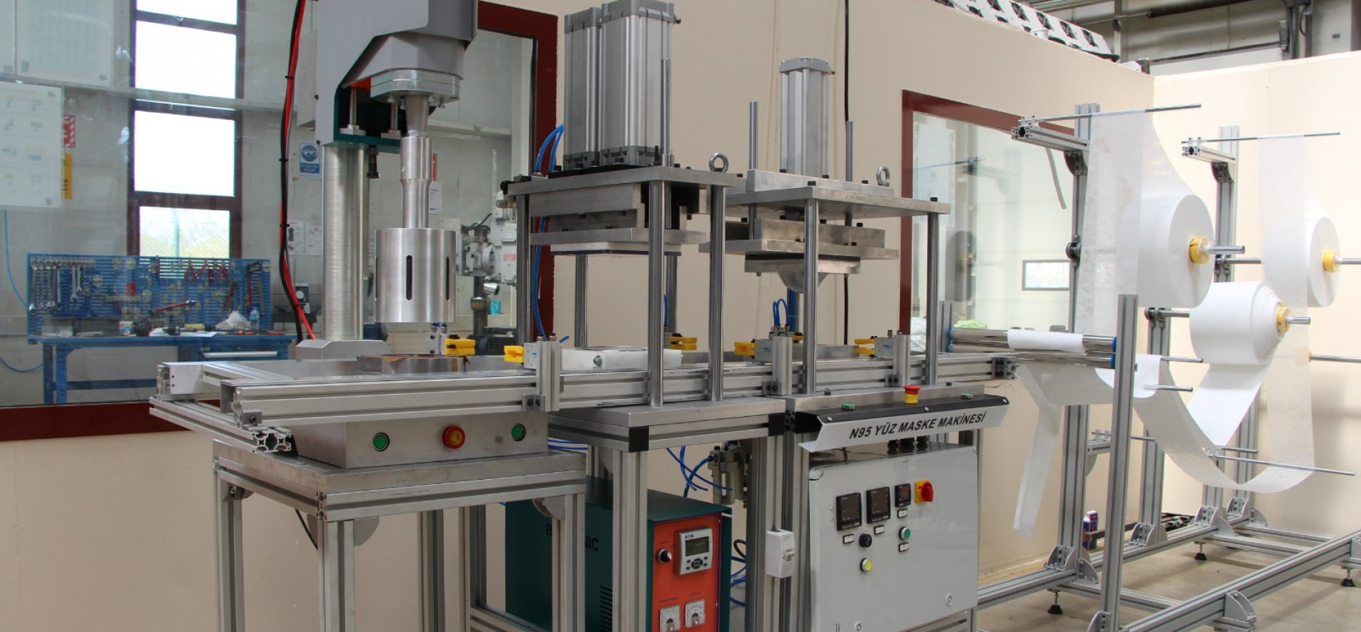 LONG AWAITED GOOD NEWS FROM VOCATIONAL SCHOOLS: THEY PRODUCED THE N95 STANDARD MASK MACHINE
